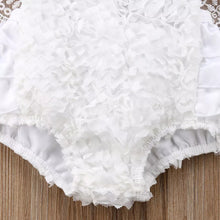Load image into Gallery viewer, White Lacey Romper + Headband - Mom and Bebe Ph