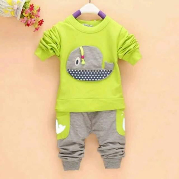 Yellow Green Top & Pants Set - Mom and Bebe Ph