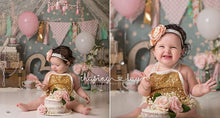Load image into Gallery viewer, Gold Sequin Lace Romper - Mom and Bebe Ph