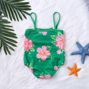 Green Floral Swimsuit - Mom and Bebe Ph