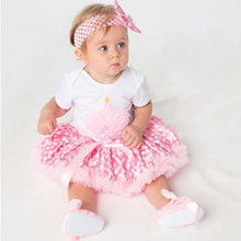 Load image into Gallery viewer, Cupcake Romper Skirt Headband Shoes 4pcs Set - Mom and Bebe Ph