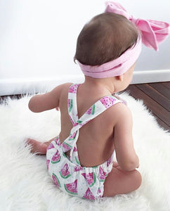 Watermelon Romper + Headband - Mom and Bebe Ph