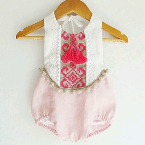 Pink Tassel Romper - Mom and Bebe Ph