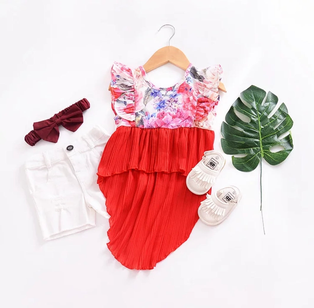 Dove tail Floral Top - Mom and Bebe Ph