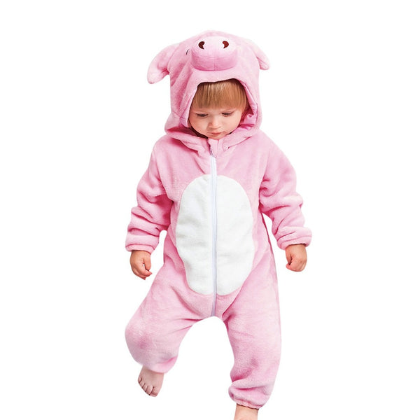 Flannel Romper Pig