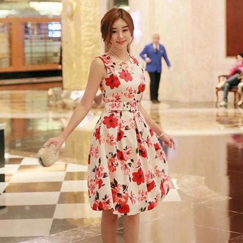 Women Floral Dress - Mom and Bebe Ph