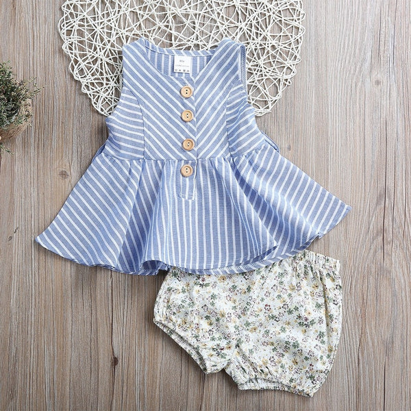 Stripe Dress Top & shorts - Mom and Bebe Ph