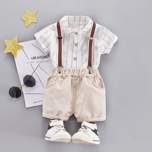 White Polo Suspender Pants - Mom and Bebe Ph