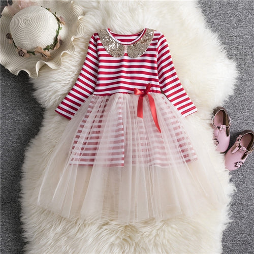 Stripes Xmas Dress - Mom and Bebe Ph