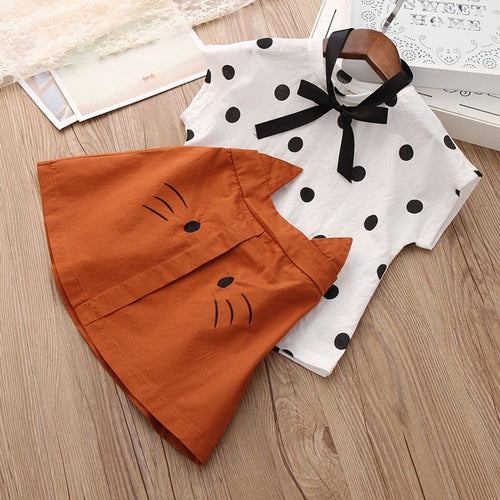 Dot Top Cat Skirt