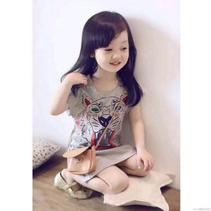 Kids Tiger Shirt Dress - Mom and Bebe Ph