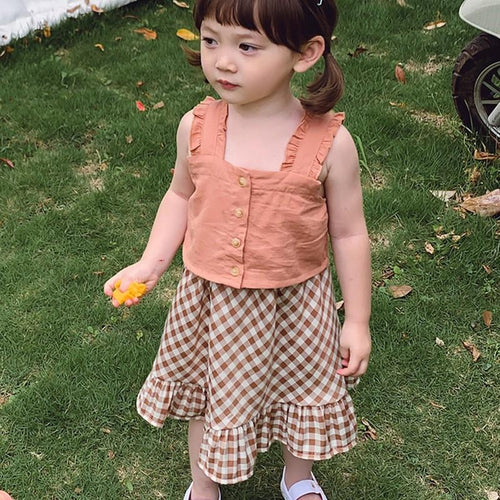 Top & Plaid Skirt - Mom and Bebe Ph
