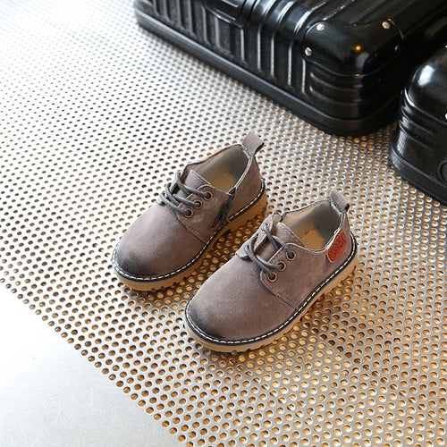 Gray Kids Boots