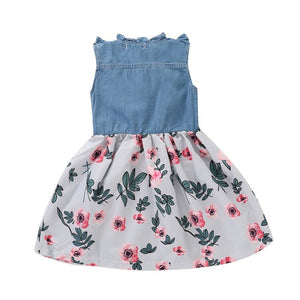 Denim Floral Dress - Mom and Bebe Ph