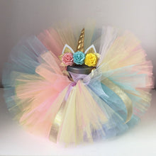 Load image into Gallery viewer, Unicorn Gold 1st Bday Tutu Set - Mom and Bebe Ph