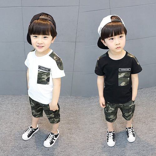 Boys Cool Top & Camouflage Trouser 3~11yo - Mom and Bebe Ph