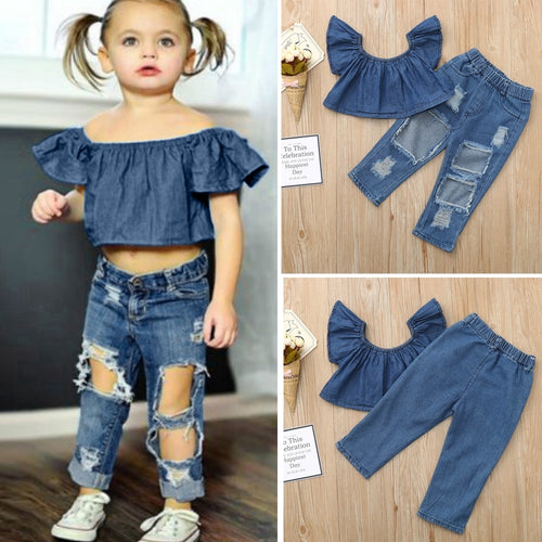 Top + Pants Denim 18m-6y