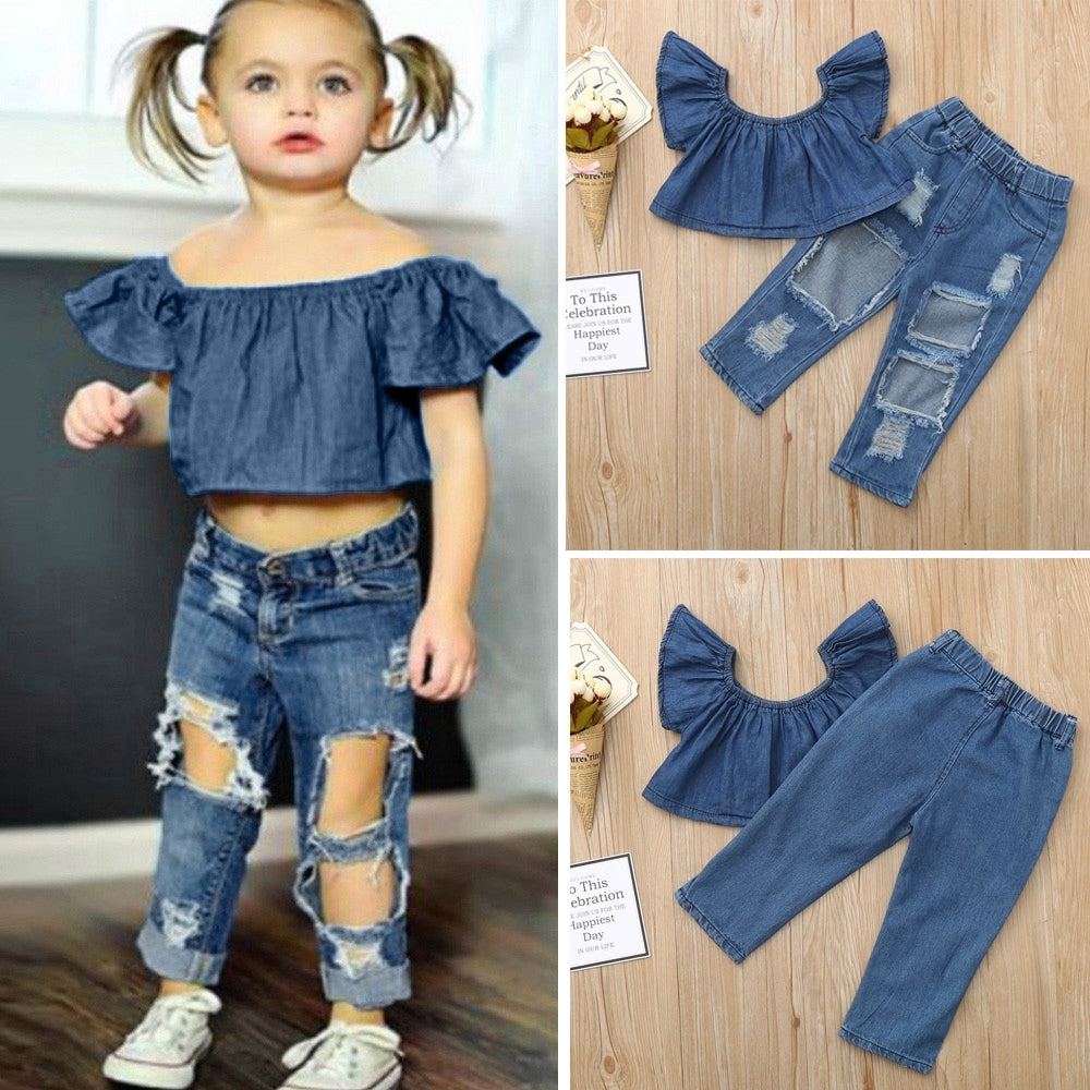 Top + Pants Denim 18m-6y - Mom and Bebe Ph