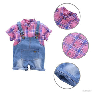Unisex Top & Denim Jumpsuit - Mom and Bebe Ph