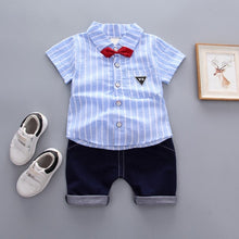 Load image into Gallery viewer, Little Man Striped Top & Shorts - Mom and Bebe Ph