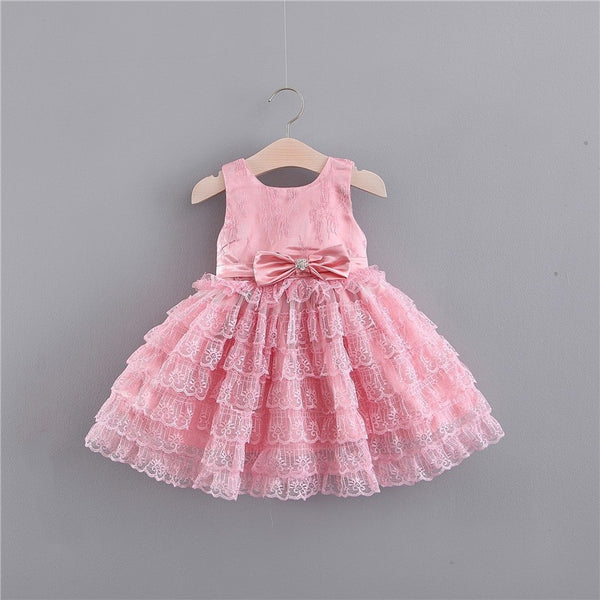 Scarlett Dress white/pink - Mom and Bebe Ph