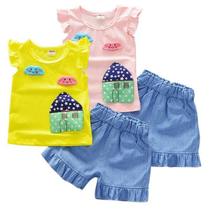 House Patch Top & Shorts - Mom and Bebe Ph