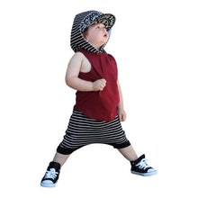Load image into Gallery viewer, Stripes Red Top and Pants Set - Mom and Bebe Ph