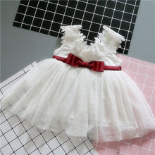 Load image into Gallery viewer, White Dress Maroon Bowtie - Mom and Bebe Ph