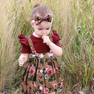 Red Suit Skirt Headband - Mom and Bebe Ph