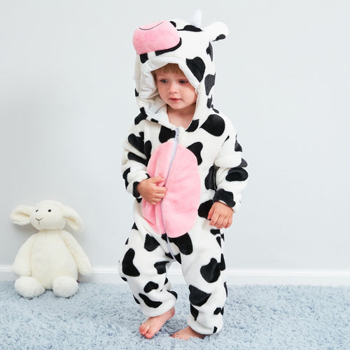 Flannel Romper Cow - Mom and Bebe Ph