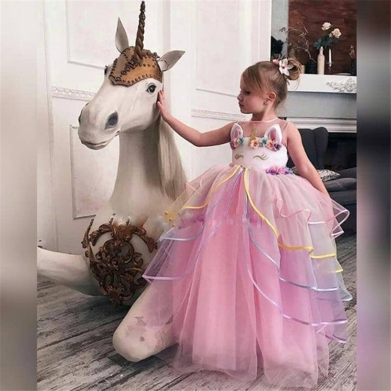Unicorn Long Gown 4-10Y - Mom and Bebe Ph