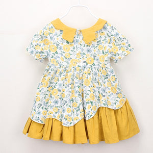 Yellow Floral Dress - Mom and Bebe Ph