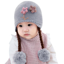 Load image into Gallery viewer, Knitted Hat with Braids - Mom and Bebe Ph