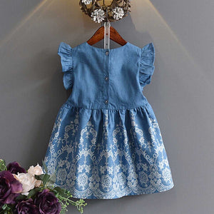 Lia Denim Dress - Mom and Bebe Ph
