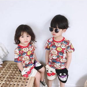 Faces Shirt & Shorts Set - Mom and Bebe Ph