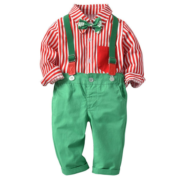 Xmas Gentleman Romper - Mom and Bebe Ph