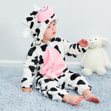 Load image into Gallery viewer, Flannel Romper Cow - Mom and Bebe Ph