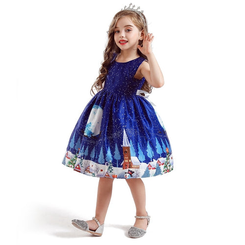 Blue Xmas Dress 4-10y - Mom and Bebe Ph