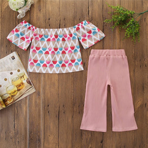 Ice Cream Off Shoulder Top Pants - Mom and Bebe Ph
