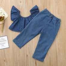 Load image into Gallery viewer, Top + Pants Denim 18m-6y - Mom and Bebe Ph