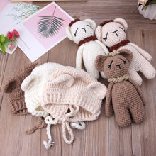 Load image into Gallery viewer, Bonnet + Teddy Bear - Mom and Bebe Ph