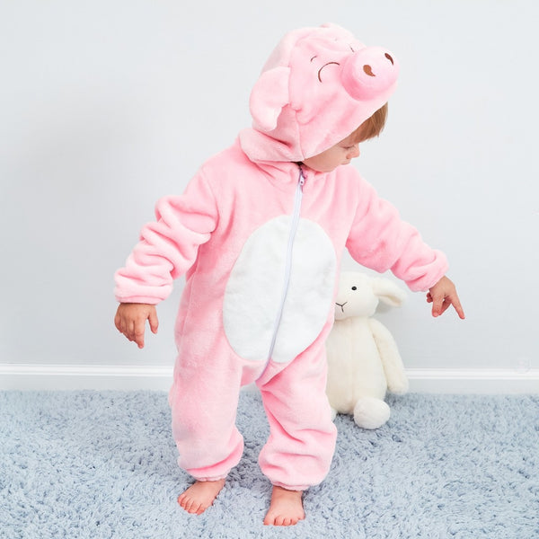 Flannel Romper Pig - Mom and Bebe Ph