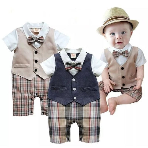 Little Gentleman Onepiece Romper - Mom and Bebe Ph
