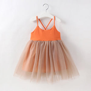 Orange Tulle Dress - Mom and Bebe Ph