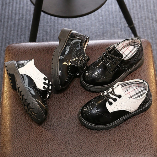 Boys Leather Shoes EU 21-30