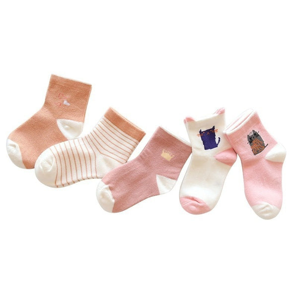 5 Pairs Kids Socks - Mom and Bebe Ph