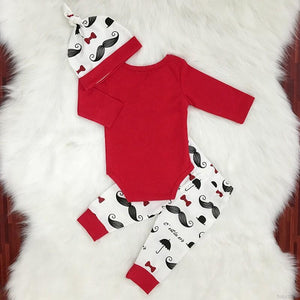 Baby Boy Cotton 3pcs Set Outfit - Mom and Bebe Ph