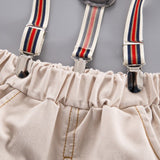 White Polo Suspender Pants
