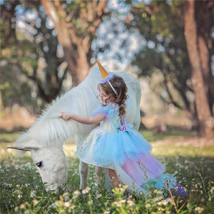 Unicorn Party Dress 4-10Y