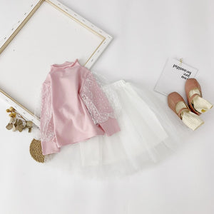 Pink Top + White Skirt